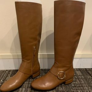 Brow high tory burch leather boots